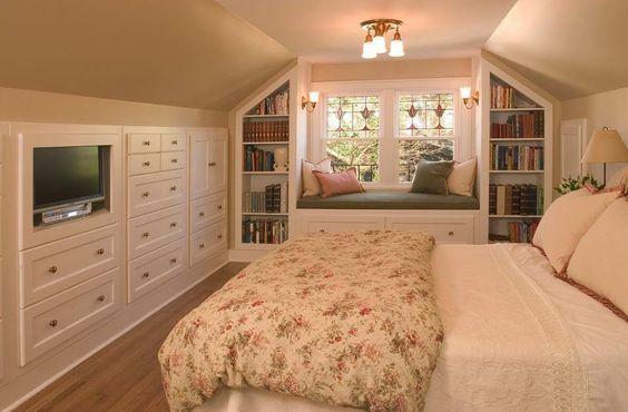 phòng ngủ trên gác mái đẹp