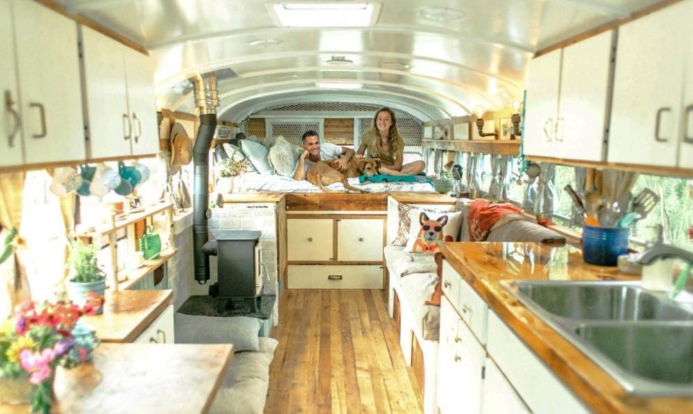 cải tạo nhà từ xe buýt
