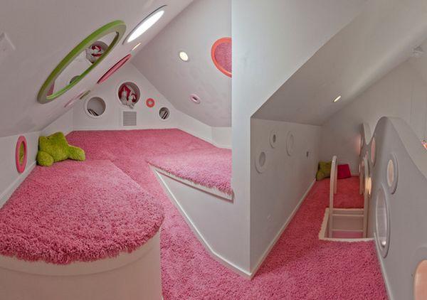 phòng ngủ trên gác mái