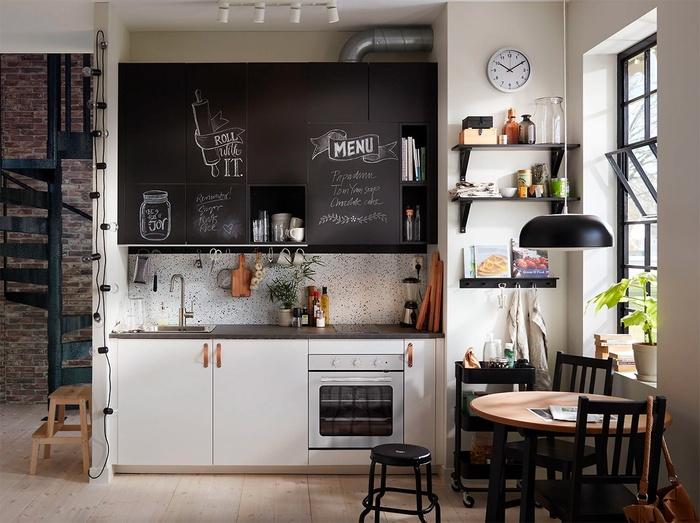 kệ bếp chữ I trong phòng bếp nhỏ
