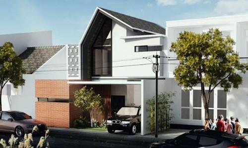 Mẫu nhà 2 tầng nhỏ nổi bật nhất khu phố