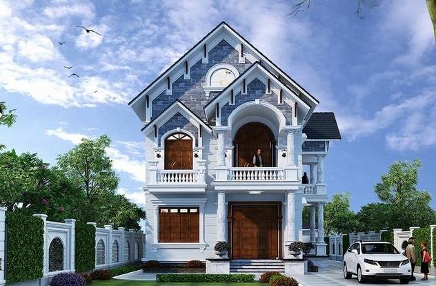 mẫu nhà phố mái Thái đẹp