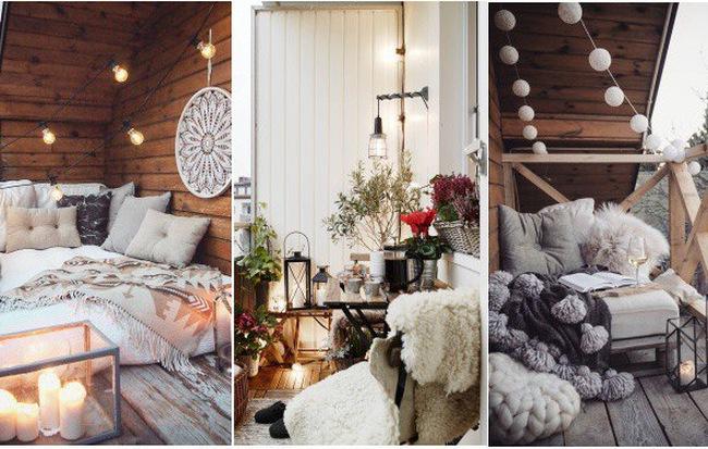 Tham khảo ý tưởng trang trí ban công dành riêng cho mùa đông