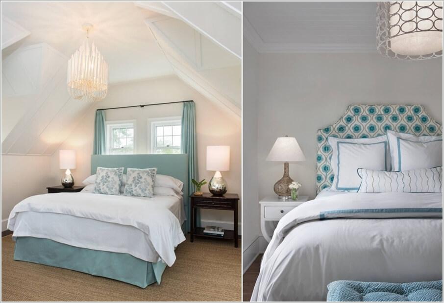 Phòng ngủ tông màu xanh - trắng
