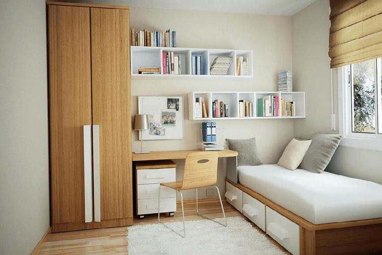 phòng ngủ 10m2 sử dụng nội thất đa năng