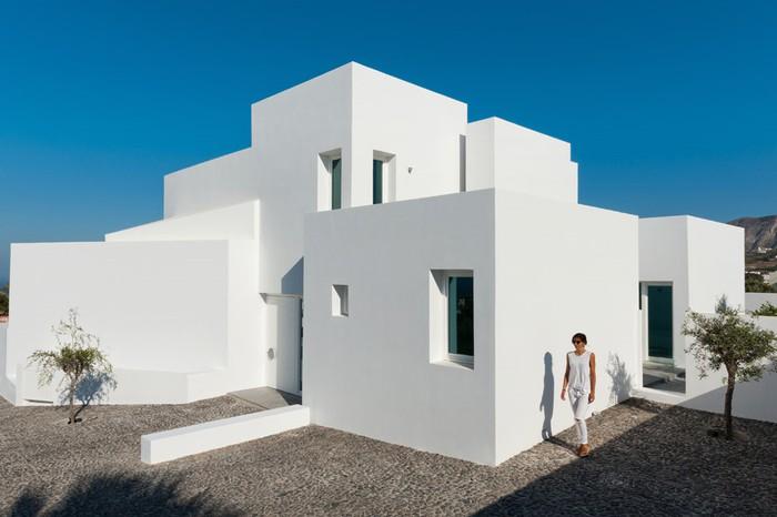 Ngôi nhà màu trắng đẹp như resort ở Hy Lạp