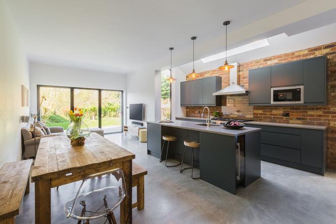 phòng bếp phong cách nội thất đương đại