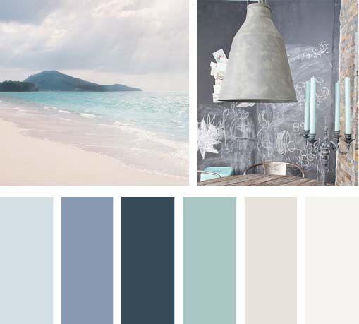 màu sắc phong cách ven biển