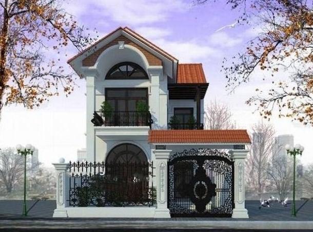 nhà phố 7x15m phong cách cổ điển
