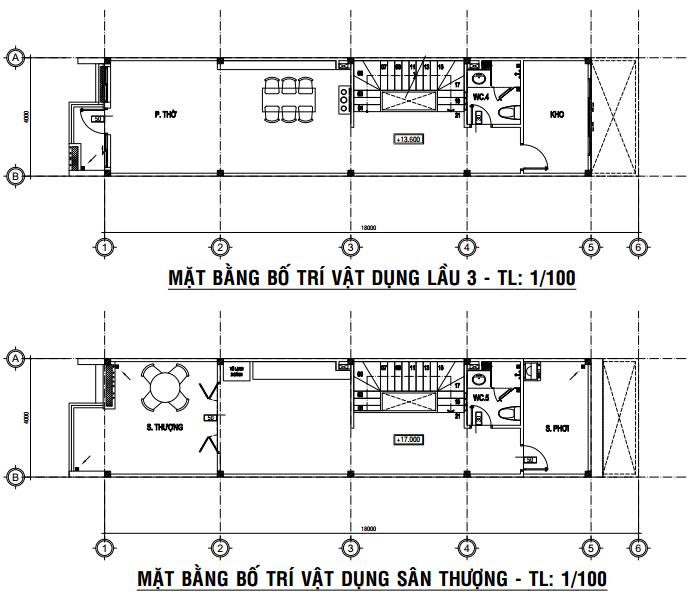 lầu 3 và sân thượng