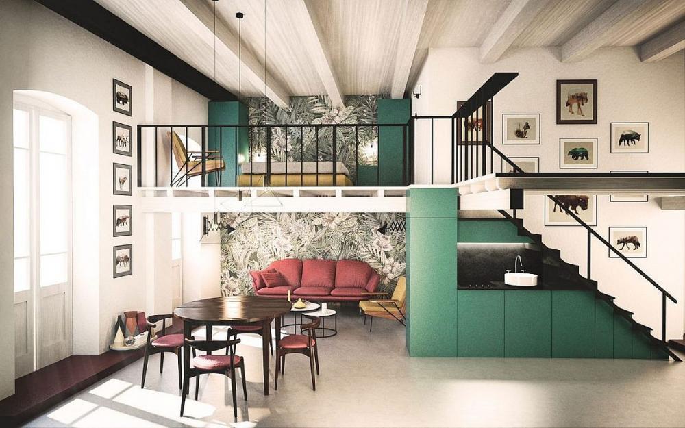 Những mẫu thiết kế tầng lửng dành cho nhà rộng và căn hộ nhỏ hẹp