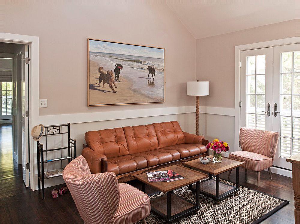 phòng khách phong cách bãi biển