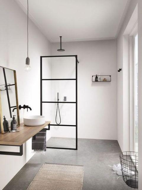 phòng tắm Scandi