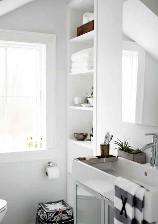 phòng tắm Scandinavian trung tính