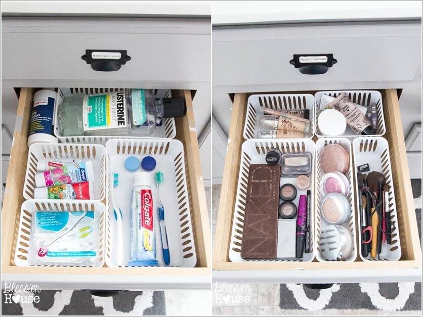 ngăn kéo lưu trữ dưới bồn rửa mặt