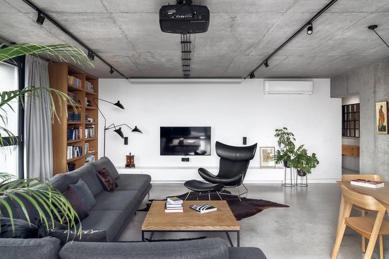 Vẻ đẹp từ sự tương phản trong căn penthouse hiện đại