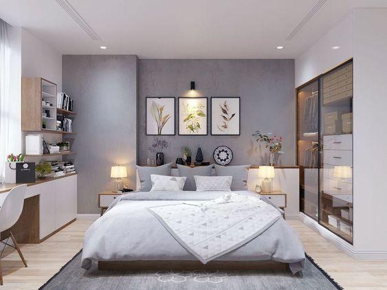 phòng ngủ master trên tầng 2