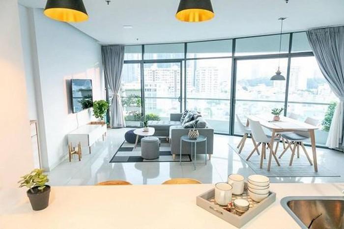 căn hộ của siêu mẫu Minh Tú thoáng sáng, rộng rãi