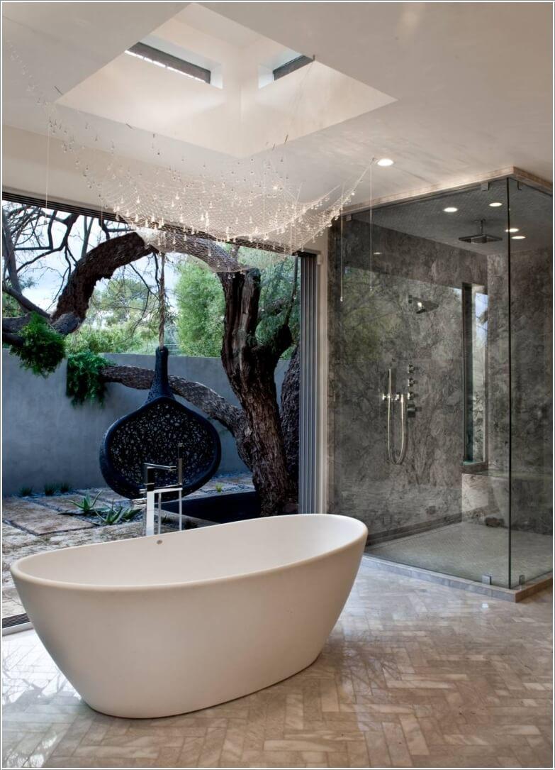 phòng tắm có thiết kế mở