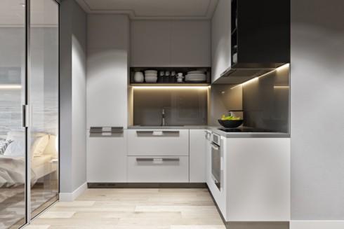 Những ý tưởng thiết kế, bố trí tủ bếp cho căn hộ chung cư