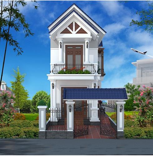 nhà mái Thái 50m2 phong cách tân cổ điển