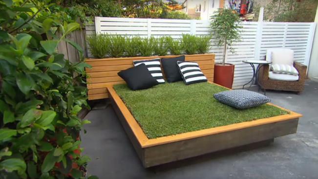 giường trải cỏ
