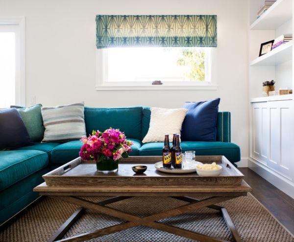 sofa màu lam ngọc