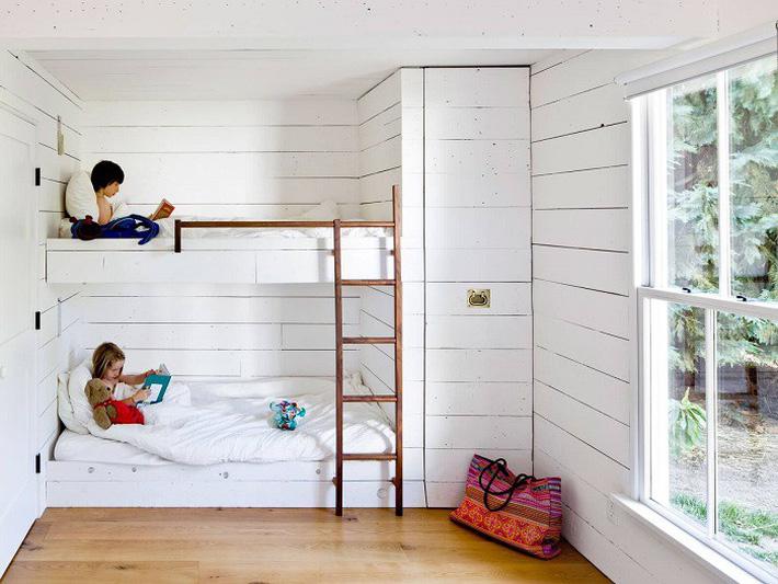 giường tầng màu trắng đẹp