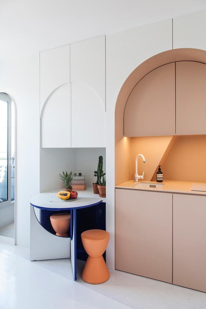Bất ngờ với cách thiết kế nội thất thông minh trong căn hộ 11m2 ở Pháp