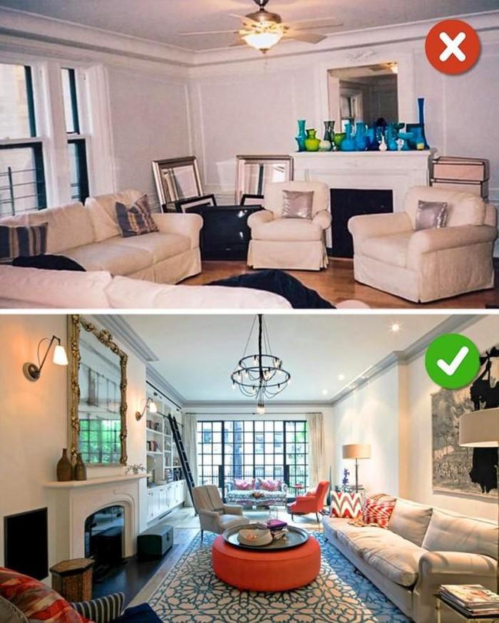 Tránh mắc phải những sai lầm này khi thiết kế nội thất phòng khách