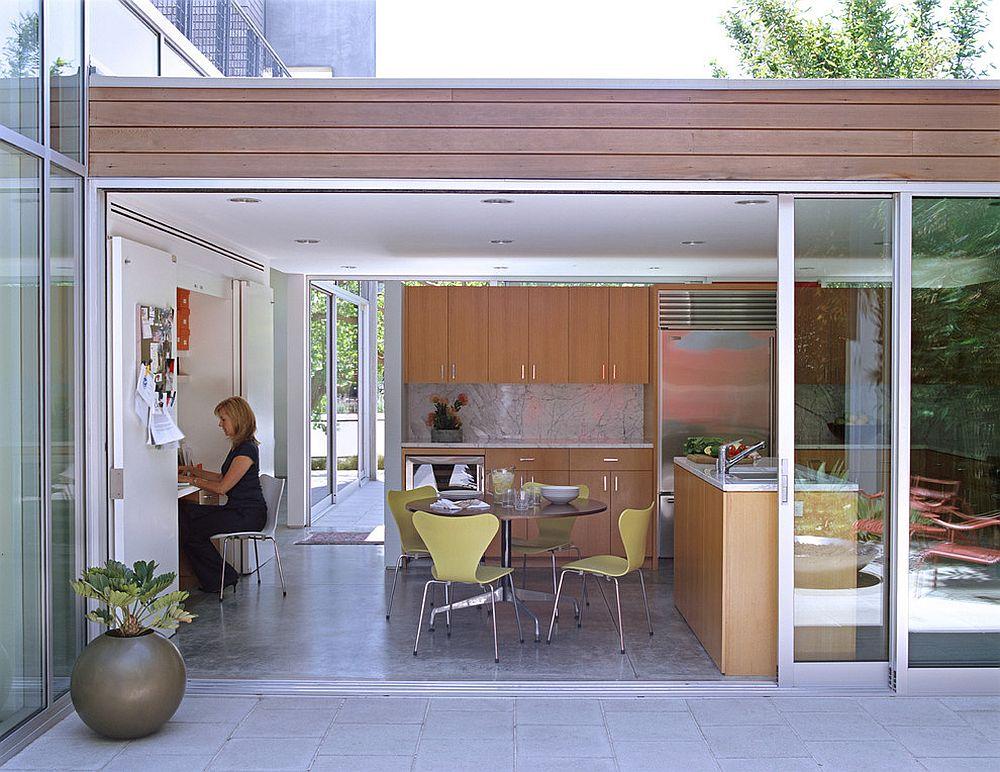 Tối ưu hóa không gian sống với thiết kế phòng làm việc liền kề bếp