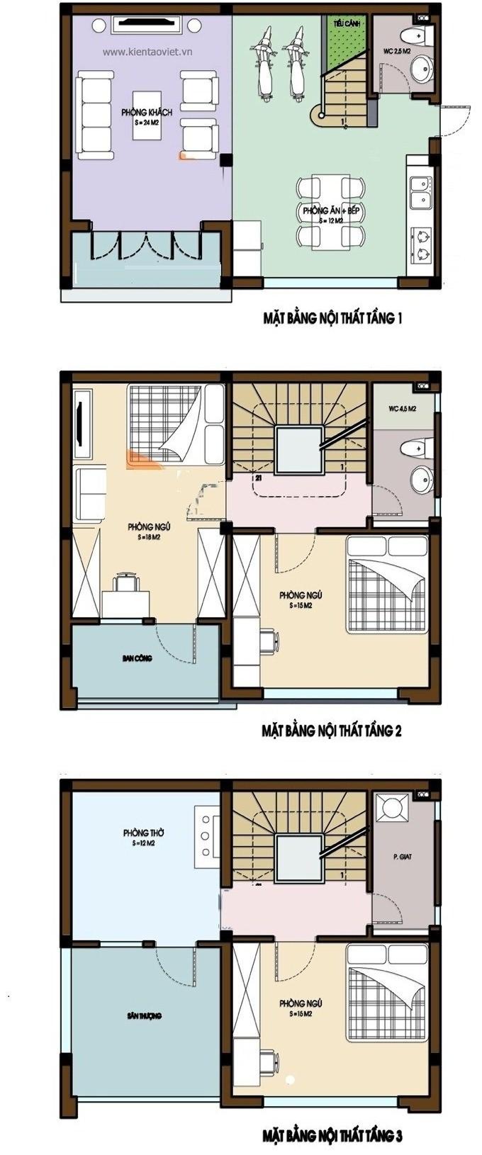 Thiết kế nhà ống 3 tầng phong cách hiện đại dành cho gia đình trẻ