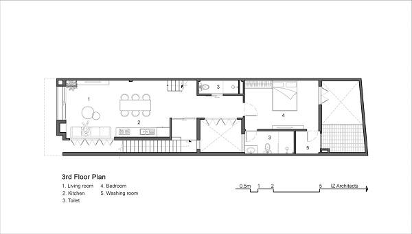 mặt bằng nội thất tầng 3