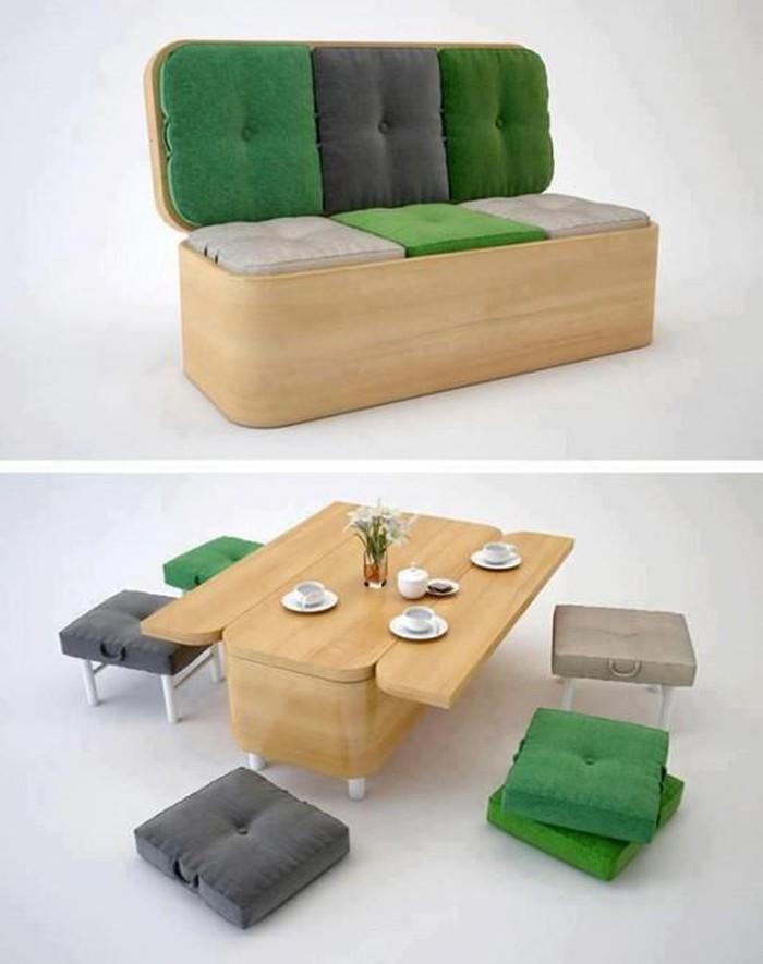 ghế sofa tích hợp bàn ăn