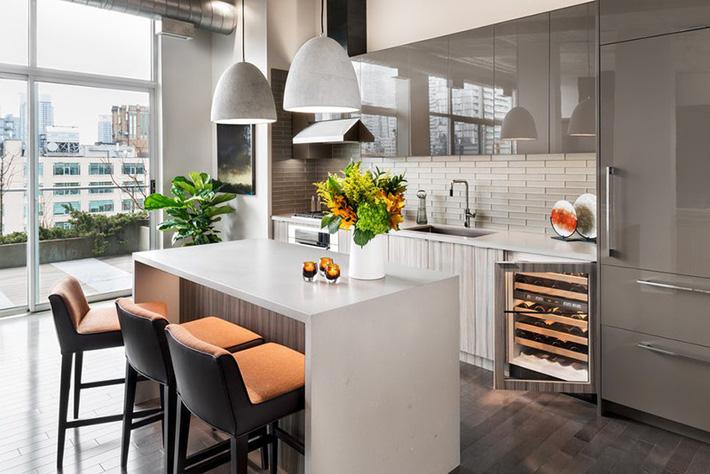 15 mẫu phòng bếp màu xám cực cuốn hút
