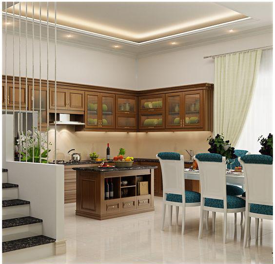 khu bếp ăn gọn đẹp