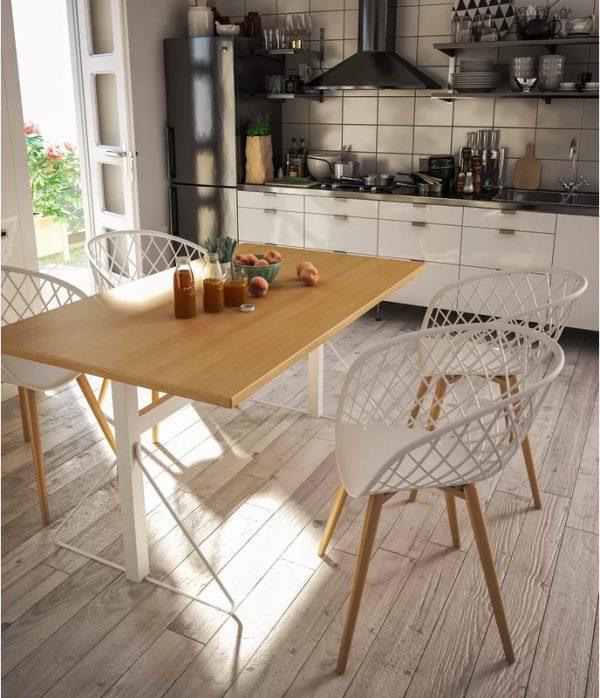 mẫu bàn ăn nhỏ đặt trong phòng bếp