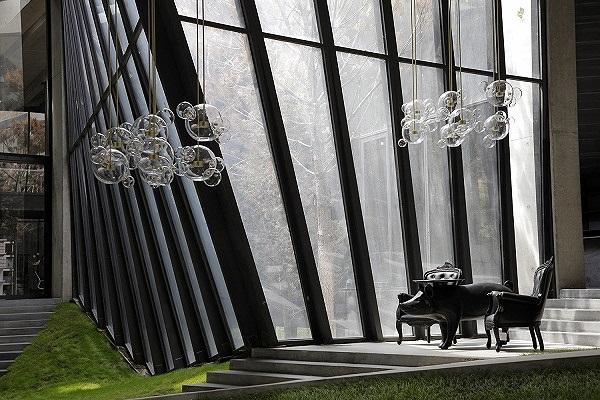 Không gian bên trong khu triển lãm cà phê