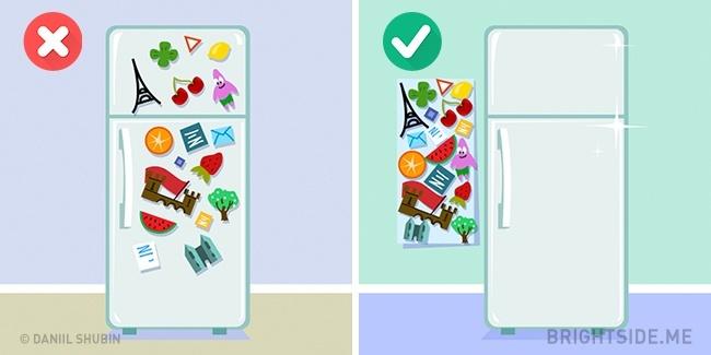 miếng dán trang trí tủ lạnh