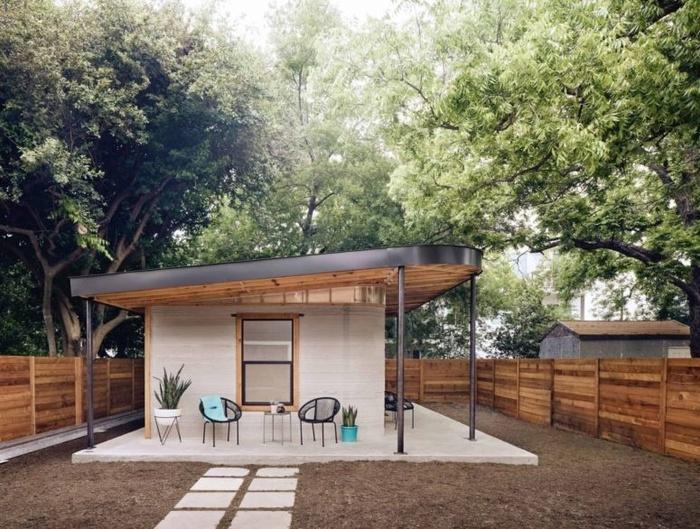 nhà 3 D mái bằng độc đáo