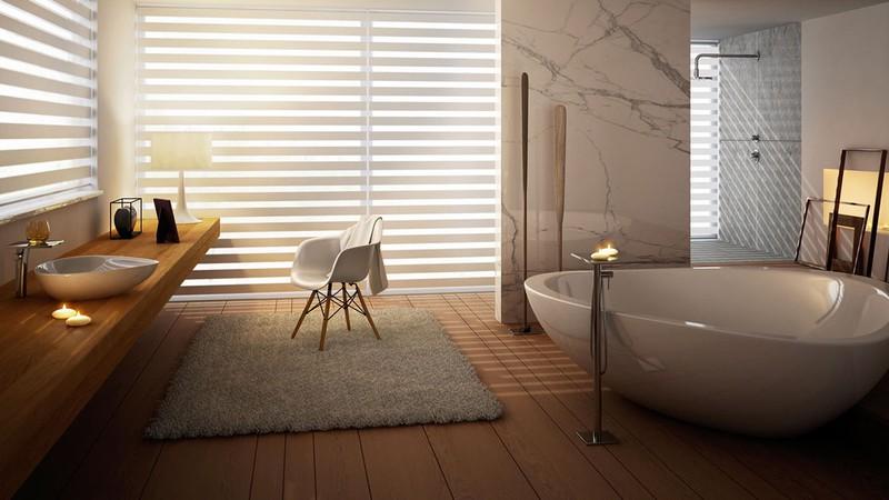 bồn tắm tam giác bo tròn