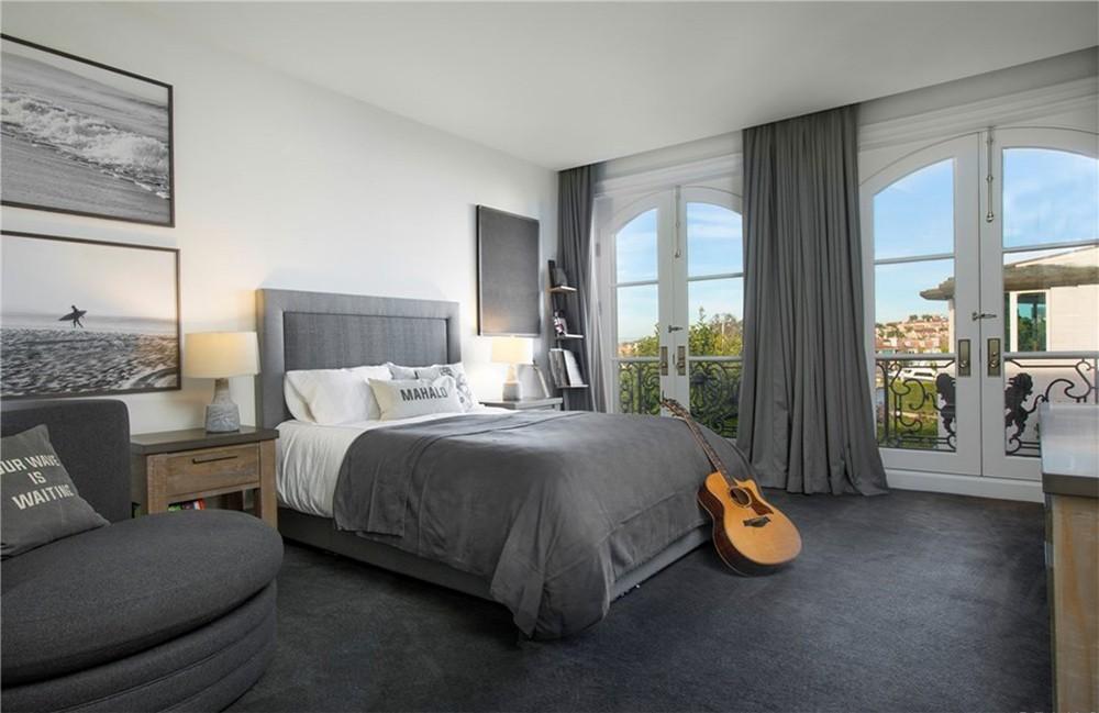 phòng ngủ màu xám đẹp