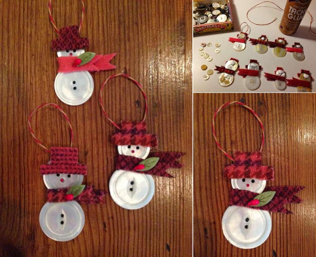 trang trí Giáng sinh từ cúc áo
