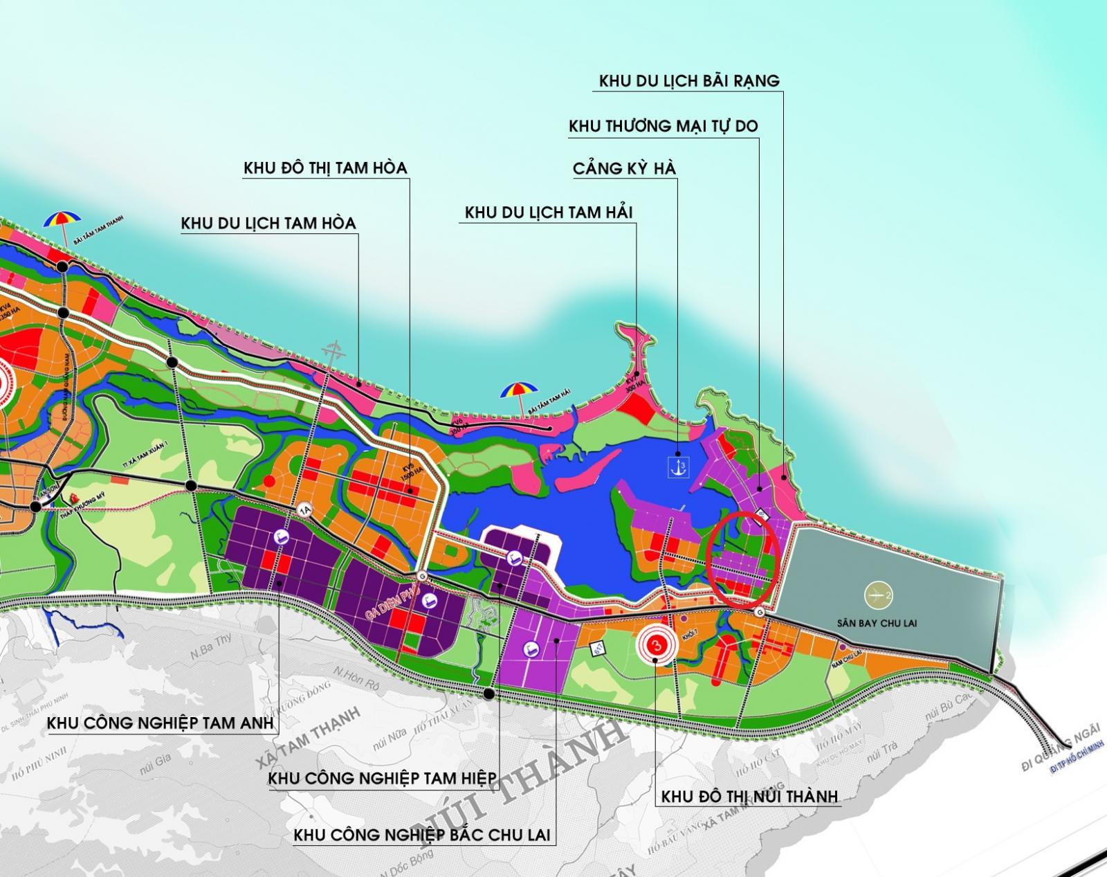 Quảng Nam duyệt quy hoạch Khu đô thị Tây Bắc sân bay Chu Lai tỷ lệ 1/2.000