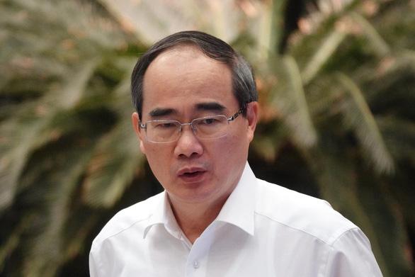 Ông Nguyễn Thiện Nhân, Bí thư Thành ủy phát biểu tại Hội nghị Ban Chấp hành Đảng bộ TP.HCM lần thứ 34