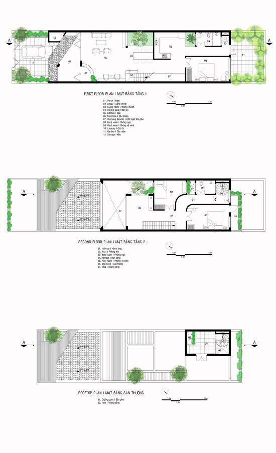 Hình ảnh bản vẽ thiết kế mặt bằng các tầng nhà