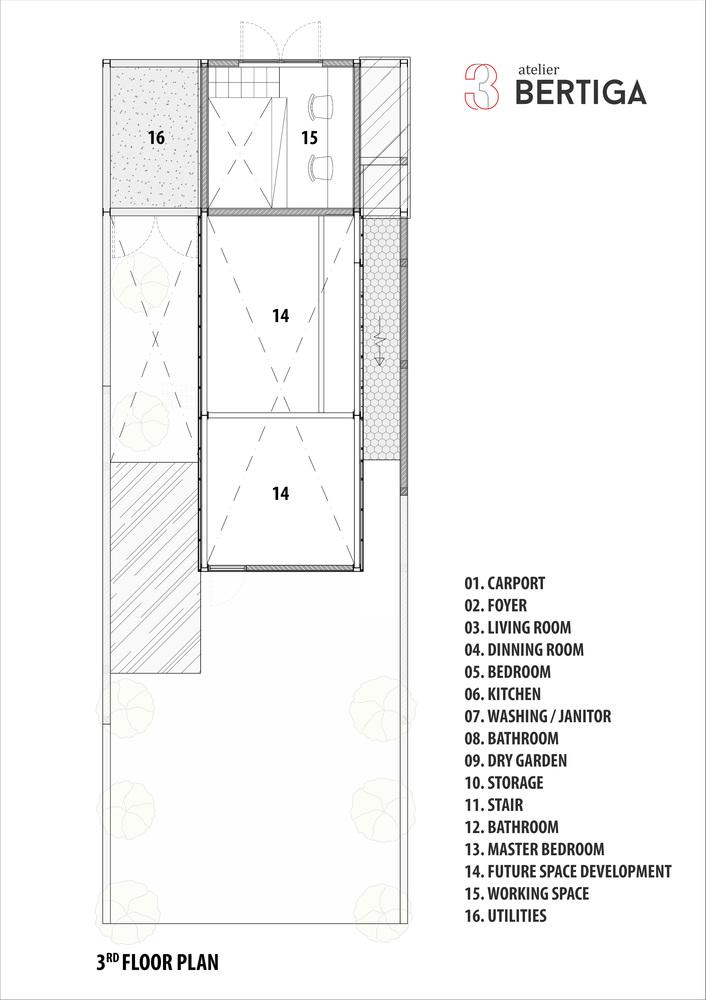Hình ảnh bản vẽ thiết kế mặt bằng tầng 3