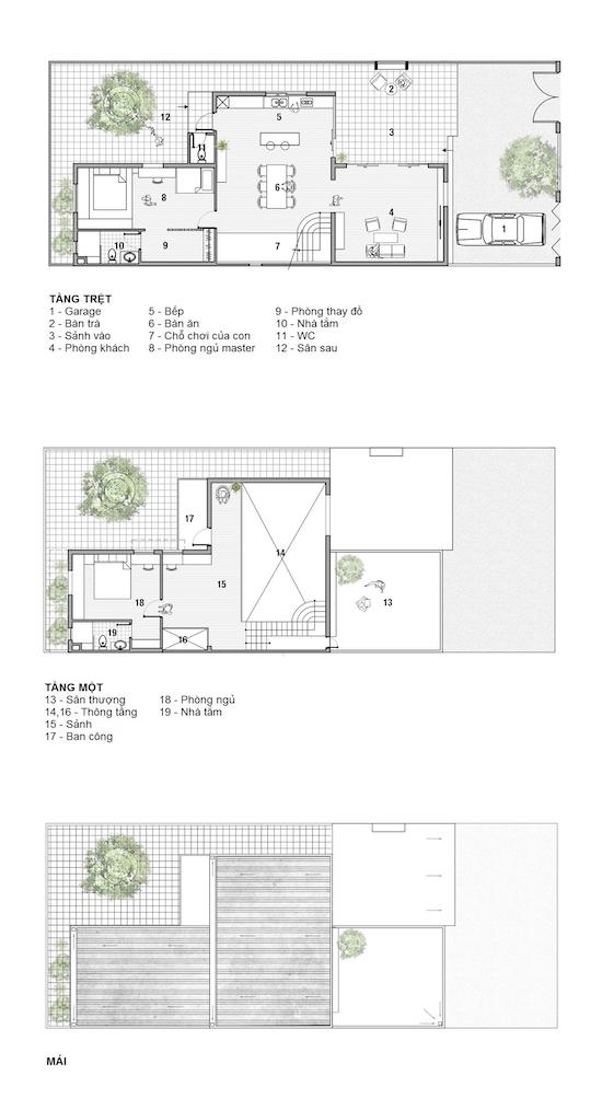 Hình ảnh bản vẽ thiết kế mặt bằng nhà 2 tầng