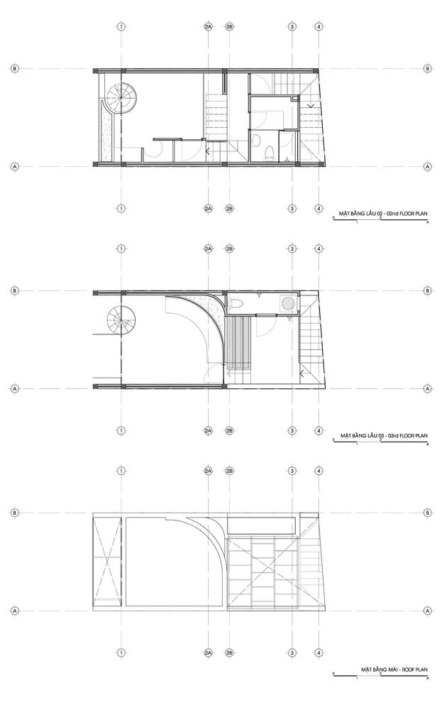 Hình ảnh bản vẽ thiết kế mặt bằng các tầng nhà.