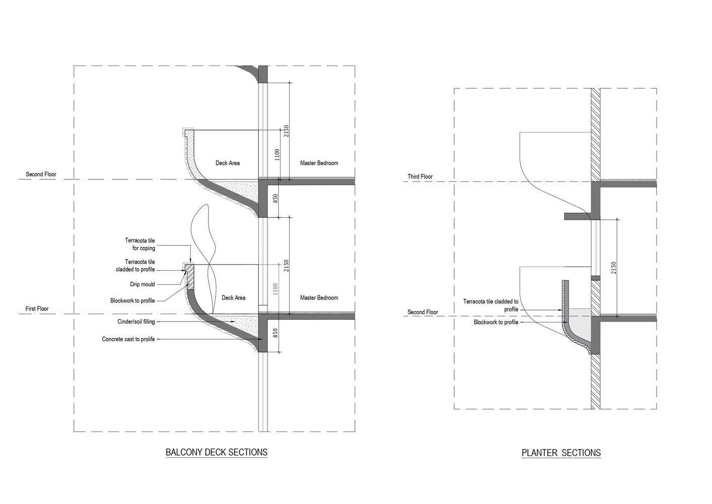 Hình ảnh sơ đồ thiết kế ban công tòa chung cư độc đáo.